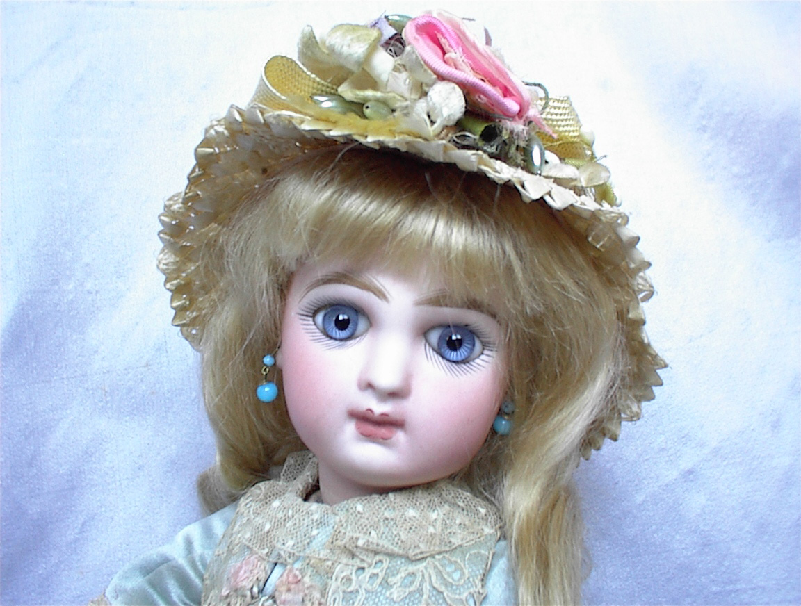 Lower Price with Beautiful Straw Hat For Your Antique Doll Jumeau Dolls Antique (pre-1930)